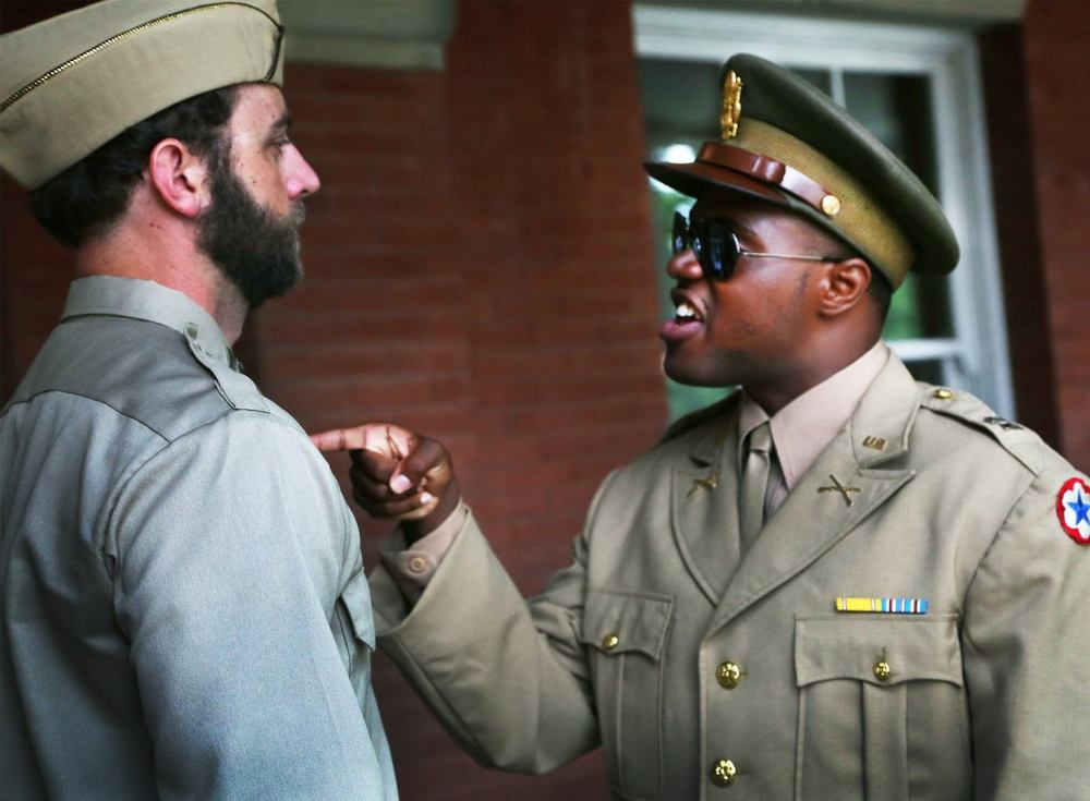 Scott Siepker as Captain Taylor and Ken-Matt Martin as Captain Davenport. Photo: Andrea Markowski