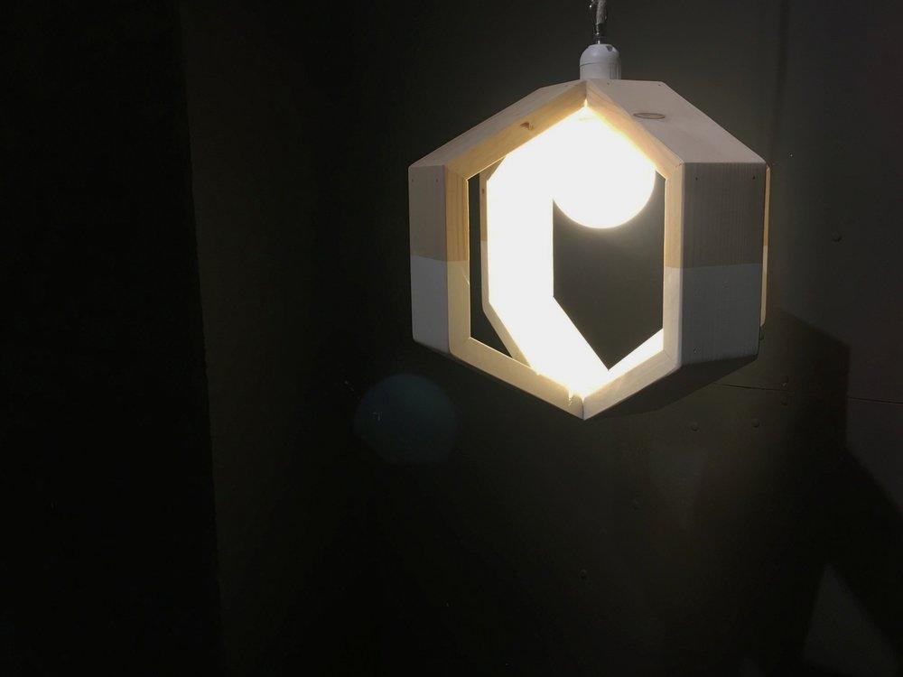 half painted cënelló Mini. Pendant lamp