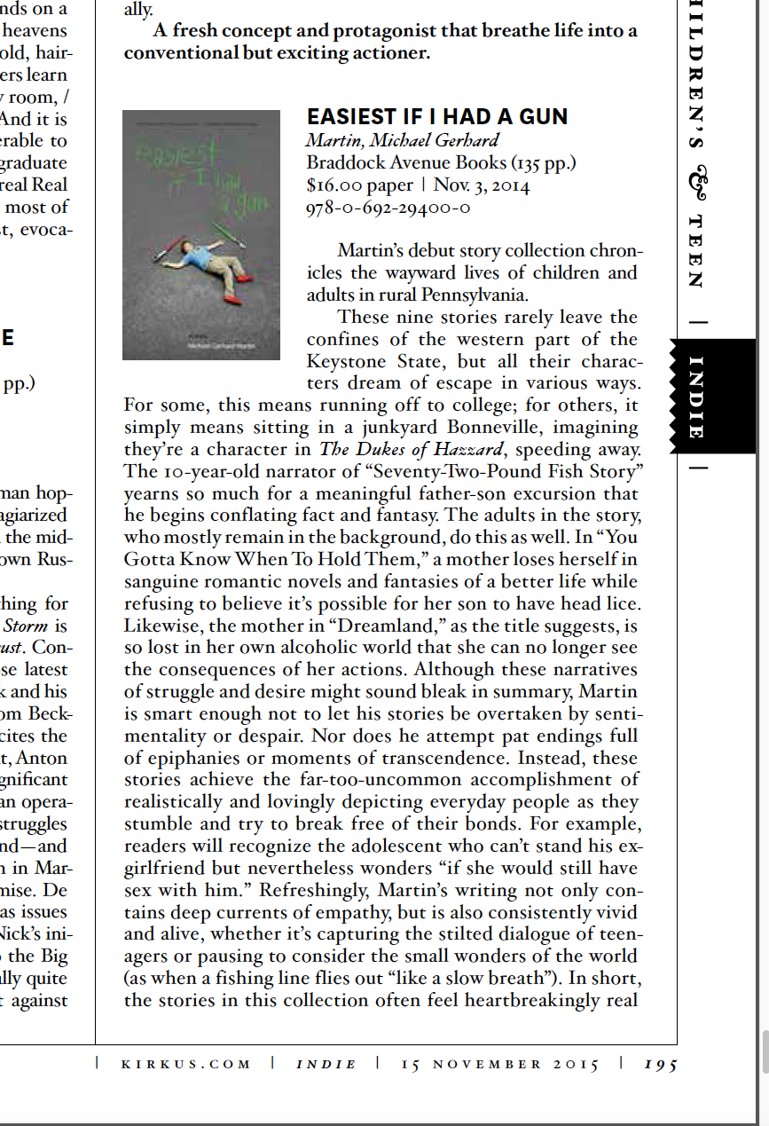 Kirkus Reviews   print edition (page 195)