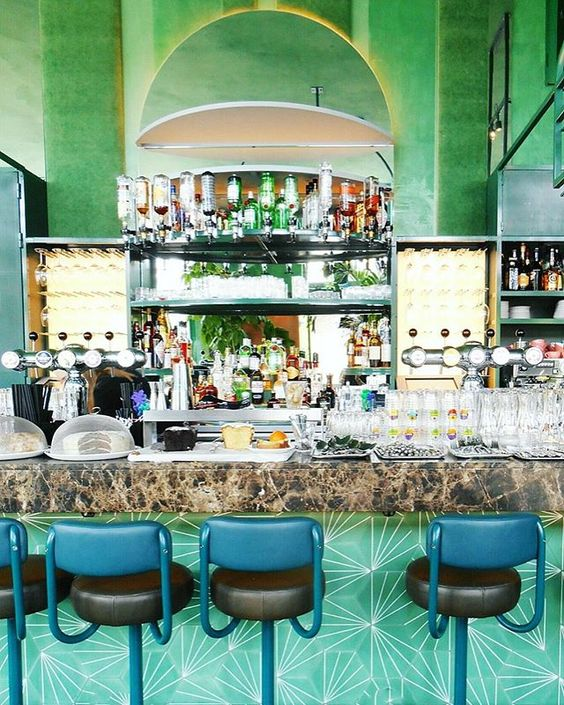 Bar Botanique Design by 3WO in Amsterdam as seen in ELLE Decoration NL Canal House issue #1 2017/ foto from another source.