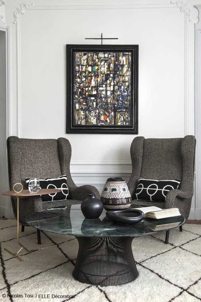 Apartment: Interior Design by Laurent Croissandeau, Paris as seen in ELLE Decoration issue December 2016/ Photo credit:  Nicolas Tosi