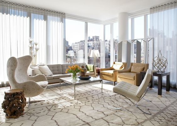 Living room of Upper East Side Residence by  Neal Beckstedt Studio as seen on www.1stdibs.com