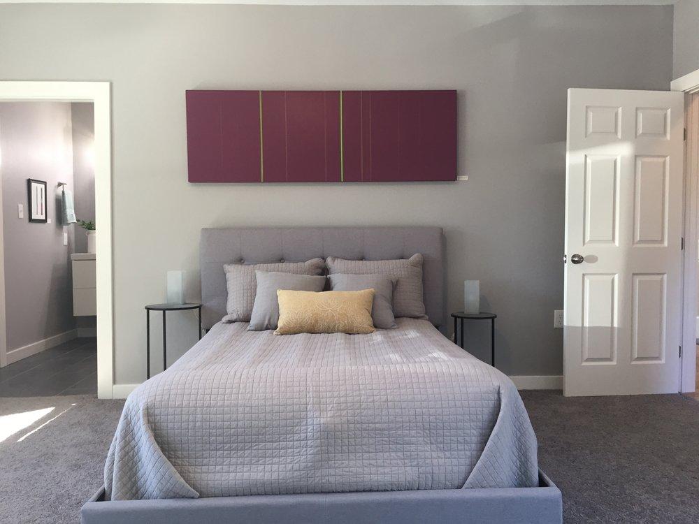 Tonal Red in bedroom