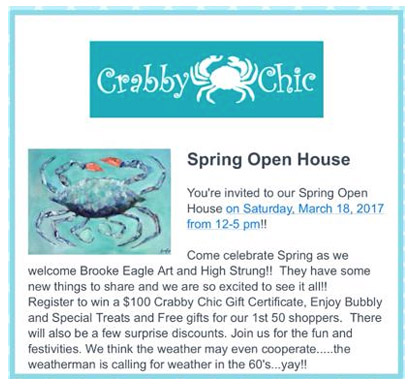 Spring Open House - March 18, 2017