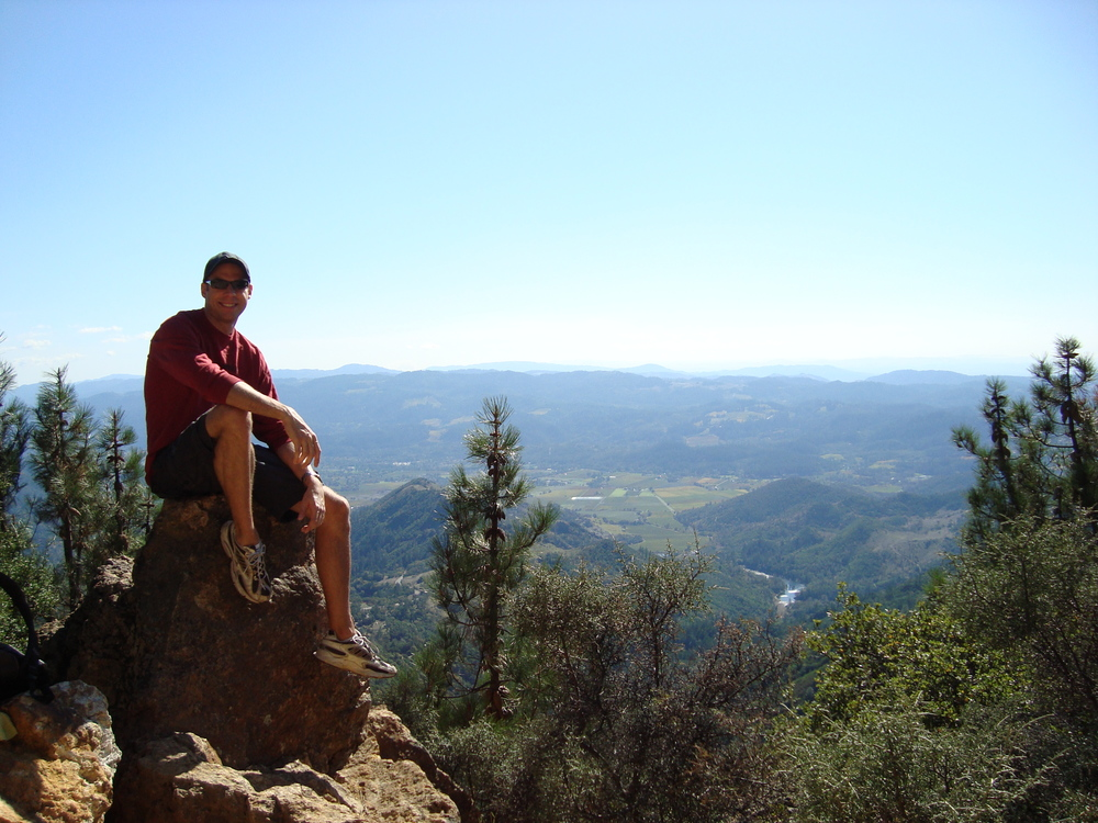 Jeff on Mount St. Helena