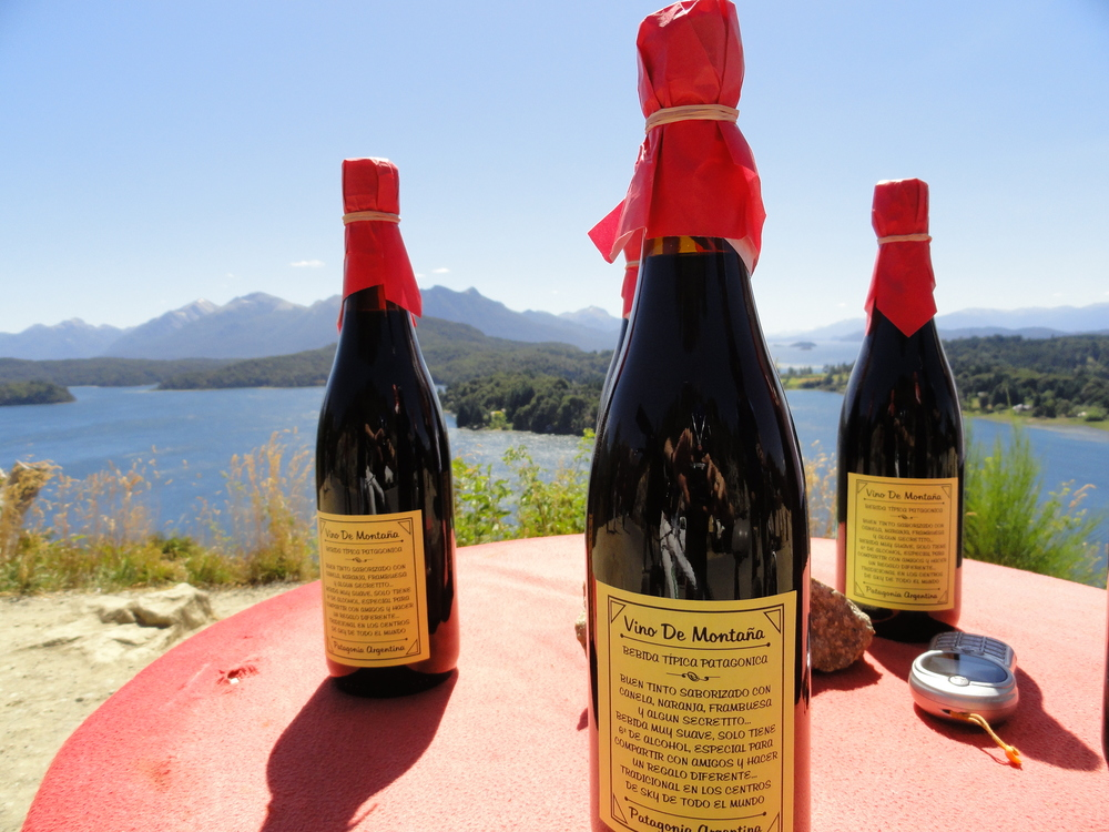 Mountain wine in Bariloche