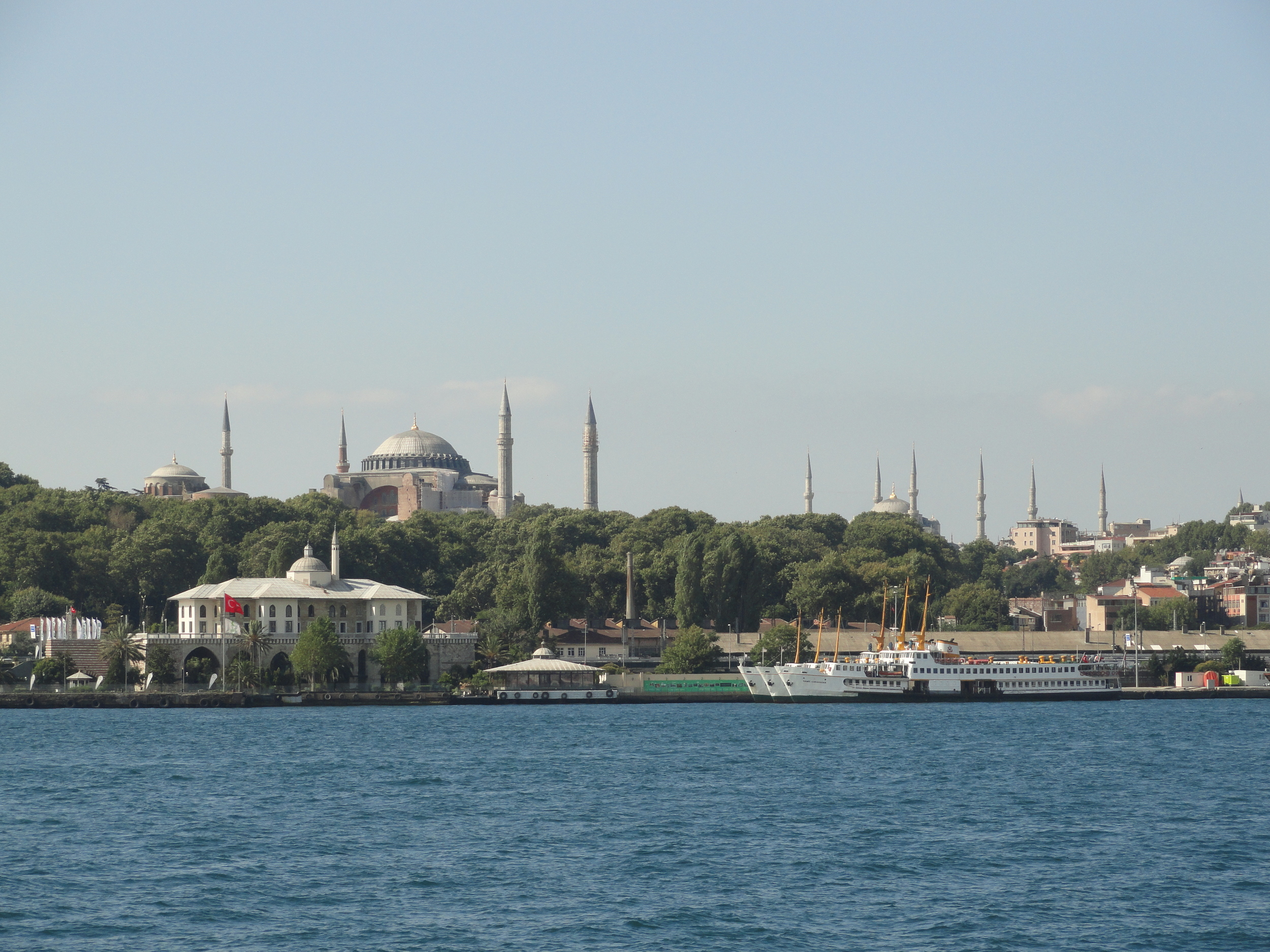 Aya Sofia & The Blue Mosque from the Bosphorous
