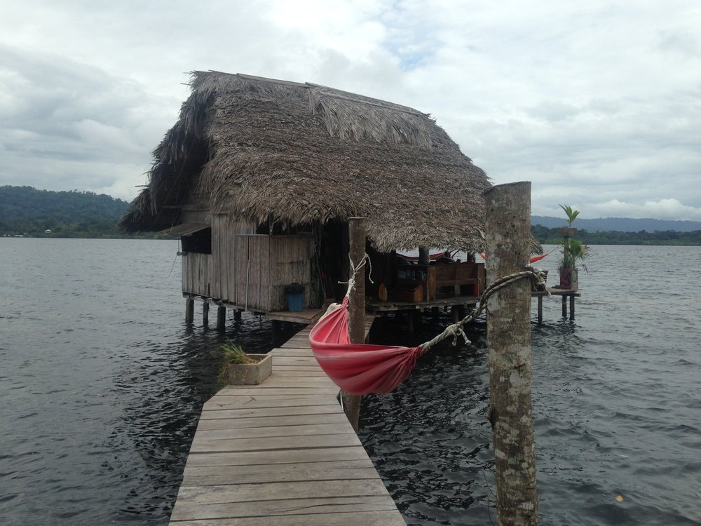 Overwater bungalow with our personal diving board in Bocas del Toro