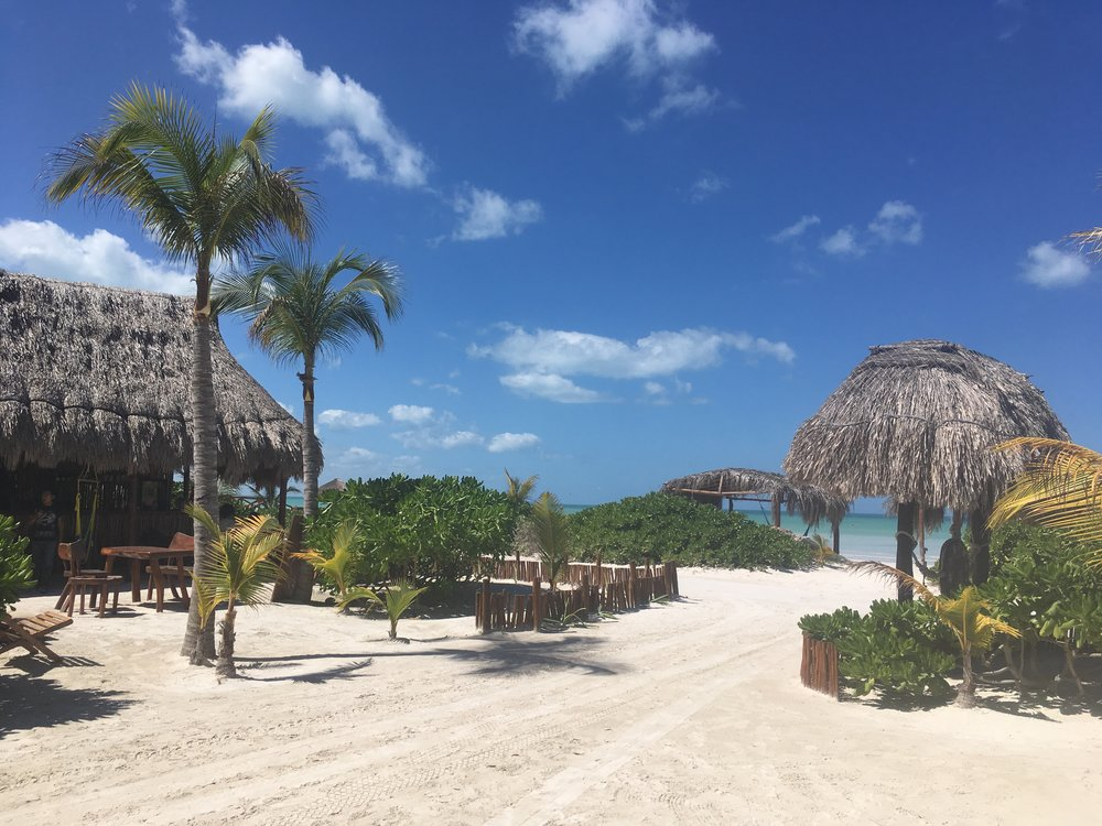 Our amazing hotel in Isla Holbox