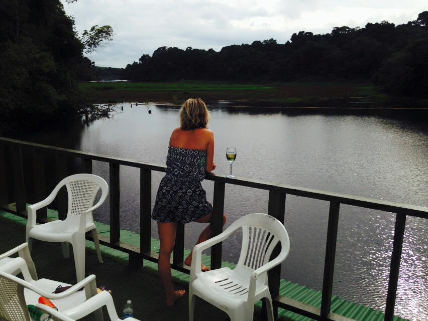 Overnighting on a houseboat in the middle of Lake Gatun in Panama.