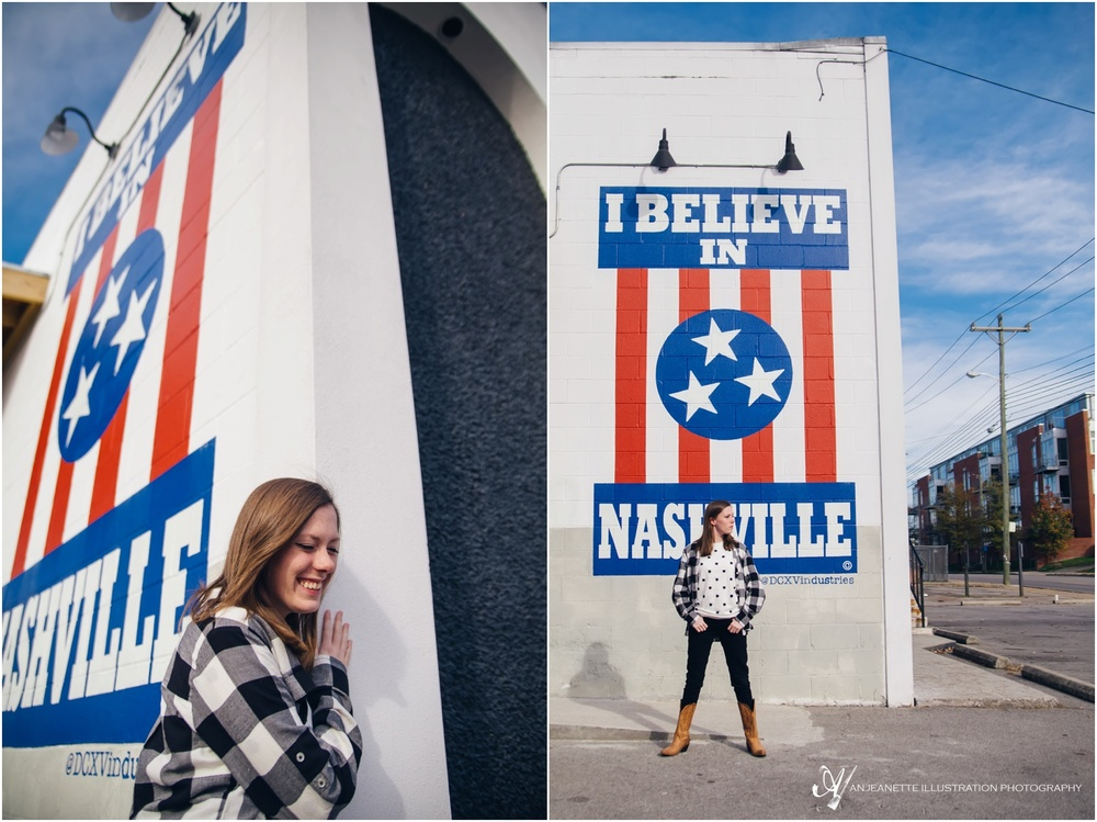 DCXV I Believe in Nashville Woodland mural