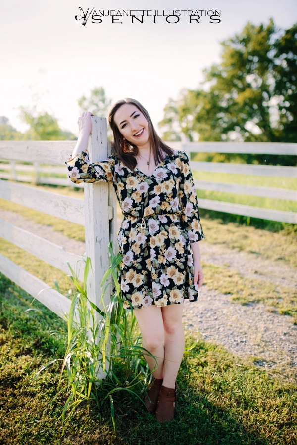 Hendersonville & Nashville TN Senior Picture Photographer Best Artistic Senior Portraits Anjeanette Illustration Photography