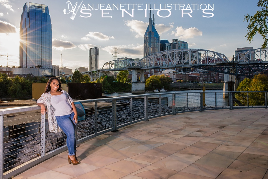Senior picture portrait photographer ideas near Hendersonville Tn Anjeanette Illustration Photography