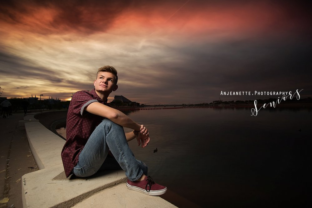 Places to take senior pictures Peoria Az senior grad pictures by Anthem high school portraits, families, & Headshot photographer Anjeanette Photography Phx Arizona