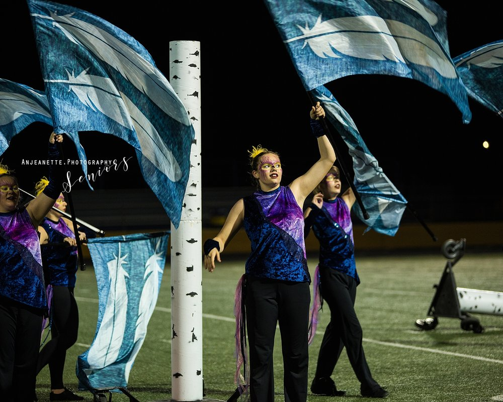 Arizona marching band color guard Peoria Az winterguard DCI drum corps WGI ABODA senior grad pictures by Anthem Az high school portrait photographer Anjeanette Photography Phoenix Shadow Mountain