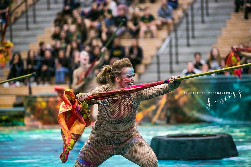 Arizona band color guard Peoria Az winterguard DCI drum corps WGI ABODA WGAZ senior grad pictures by Anthem Az high school portrait photographer Anjeanette Photography Phoenix mountain ridge MRHS