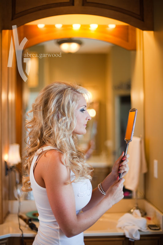 The hand mirror was one of Kyle's gifts to Brittany. :)