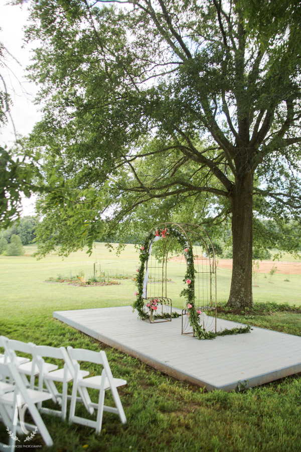 Another ceremony location idea-- the dirt in the background is where the barn is being built!