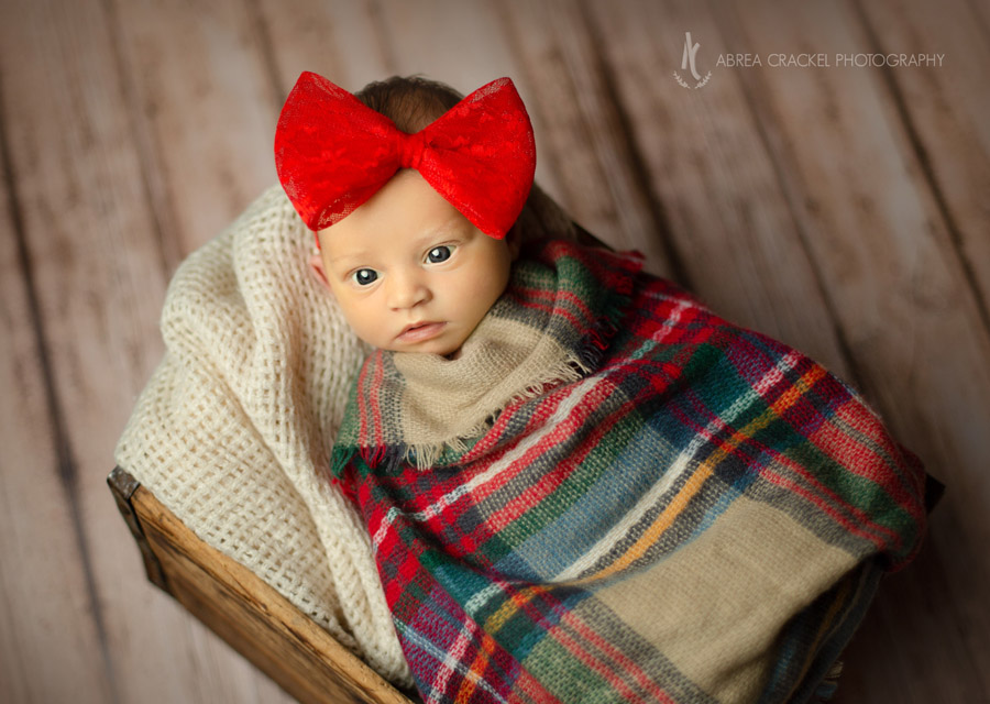 Her momma was ready for her baby girl! She had this sweet bow and scarf wrap ready and waiting to be used in the session.