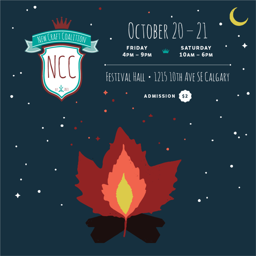 New Craft Coalition - Friday, October 20 from 4:00-9:00pmSaturday, October 21 from 10:00am-6:00pmFestival Hall, InglewoodNewCraftCoalition.comNew Craft Coalition brings a carefully curated collection of art, craft + design to the people.