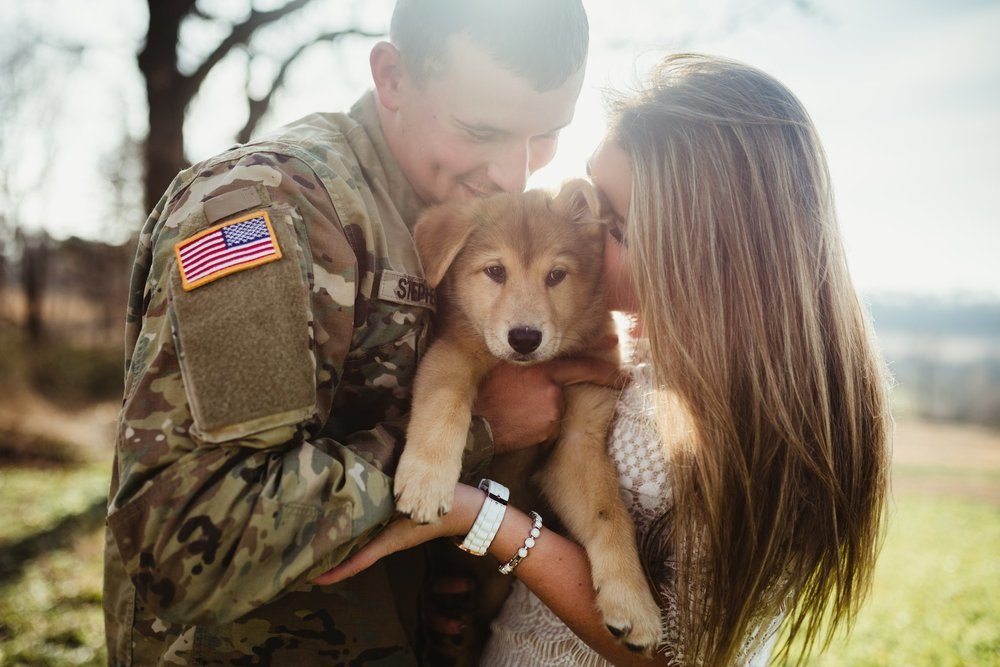 engagement photo military army german shepherd puppy usa.jpg
