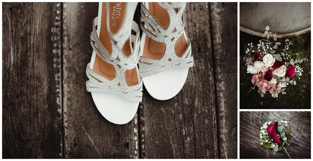 Kayla E. Photography wedding shoes bouquet details.jpg