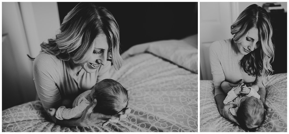 in home lifestyle newborn session madison wi black and white.jpg