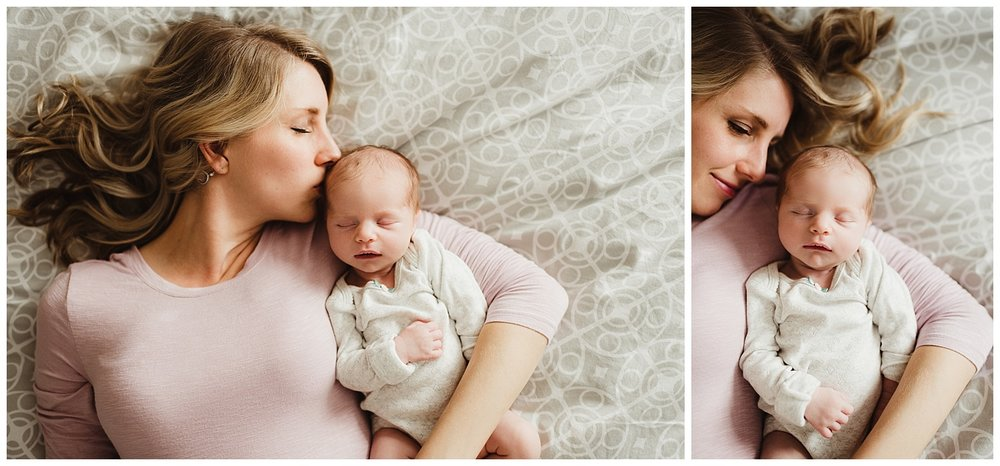 in home lifestyle newborn session madison wi mom and baby.jpg