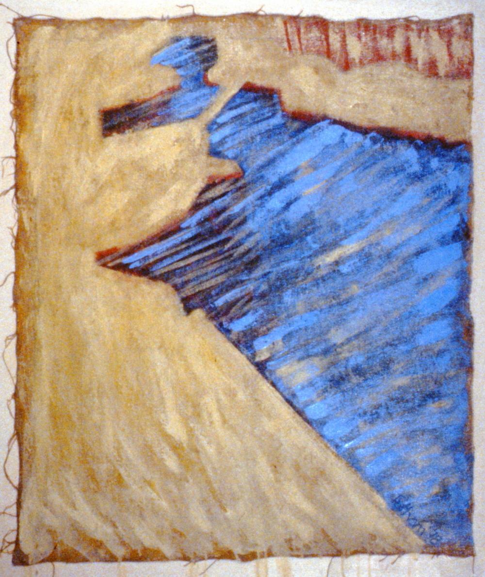 Vermillion Lakes One , 1978, Charlene Tatham, acrylic on canvas, 115.6 x 132.1 cm, 1981.06.01. Gift of Rosalind Robinson.