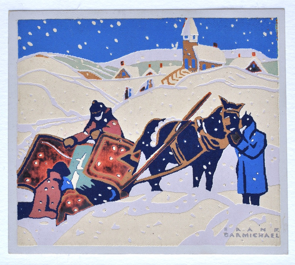 "Untitled , Franklin Carmichael, serigraph, 3 1/4""x 3 3/4"", 984.01.03"