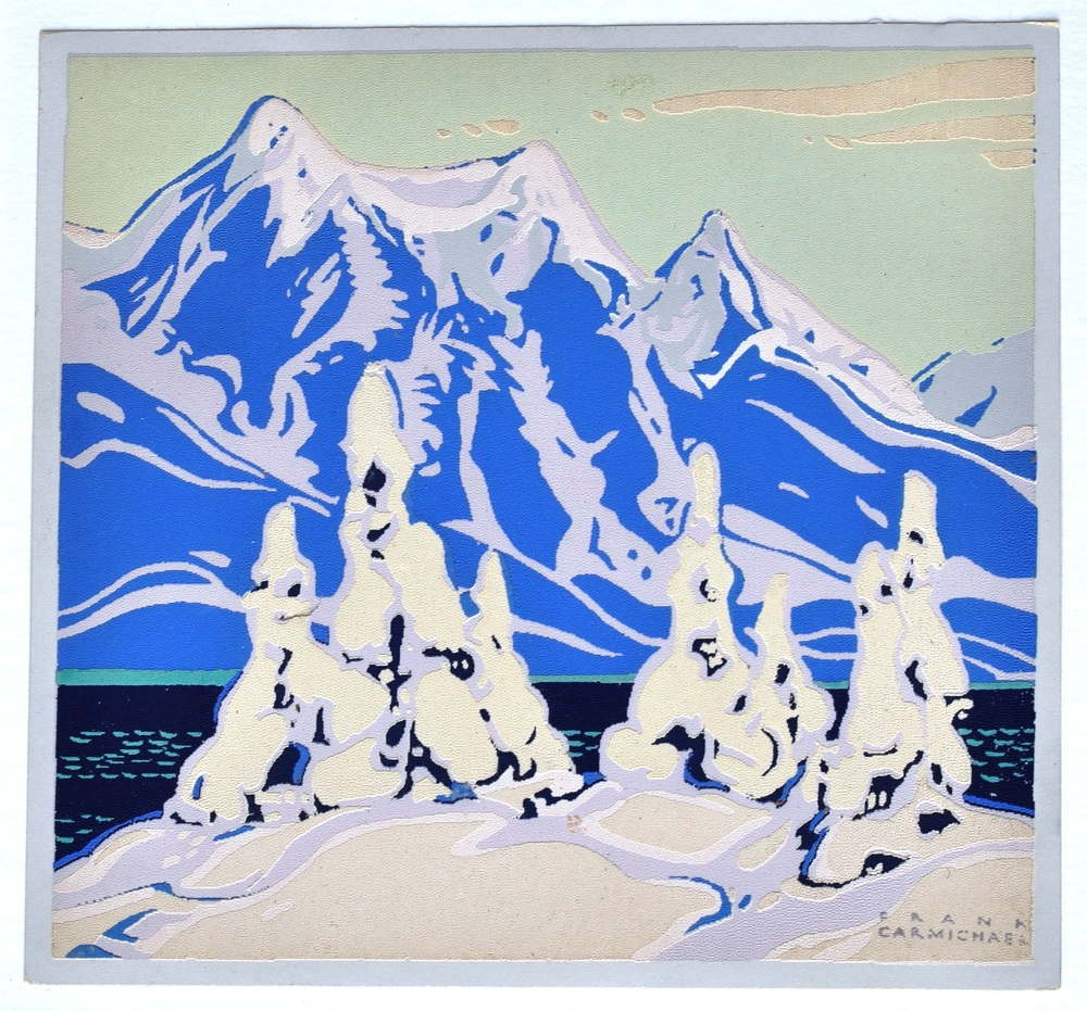 "Untitled , Franklin Carmichael, serigraph, 4 3/4""x5"", 984.01.04"