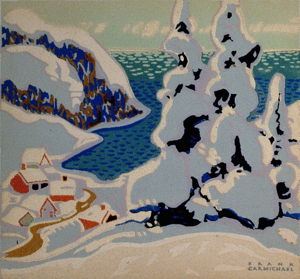 "Untitled , Franklin Carmichael, serigraph, 4 3/4""x5"""