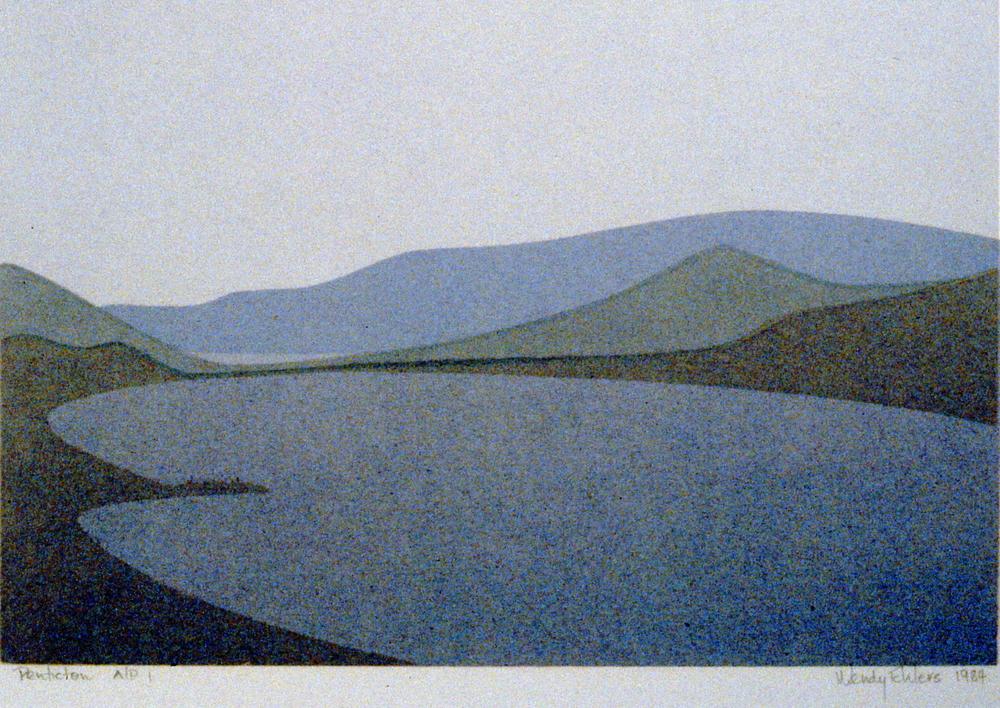 Penticton,1984, Wendy Ehlers, serigraph, 1984.02.03