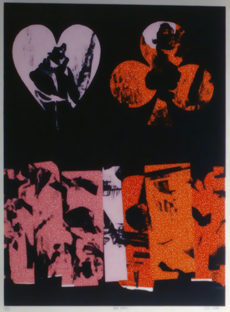 "The Red Queen (?) , 1967, Joel Smith, serigraph, edition 36/50, 15"" x 20"", 1985.03.03. Simon Fraser Centennial Suite Donation. Gift of Jessie Binning."
