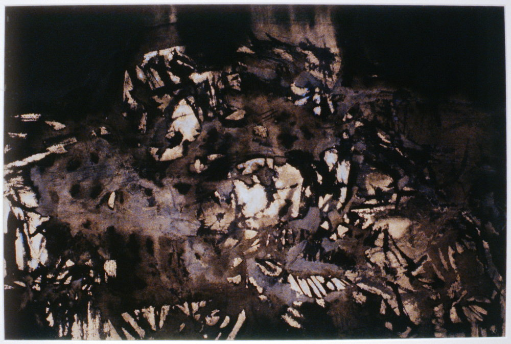 "Forest Floor , Dan Jarvis, 1964, ink on paper, 14 5/8"" x 22"", 1986.07.01. Gift of the Oliver Community Arts Council."