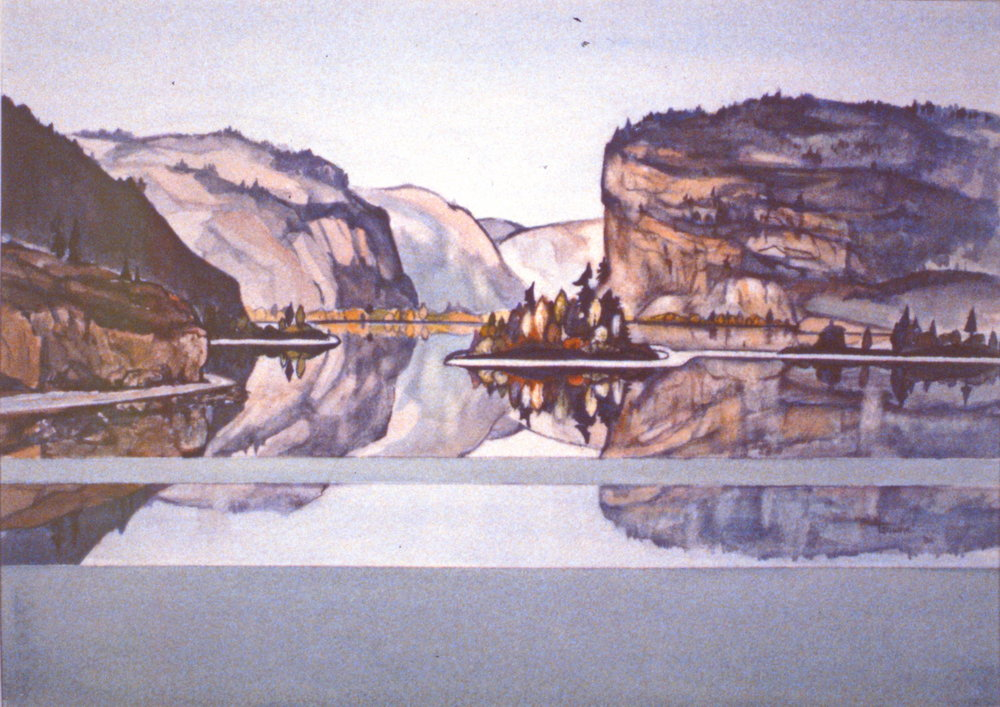 Reflections No. 5 (Vaseaux Lake), 1984, Mabel Gawne, watercolour on paper, 1986.08.02