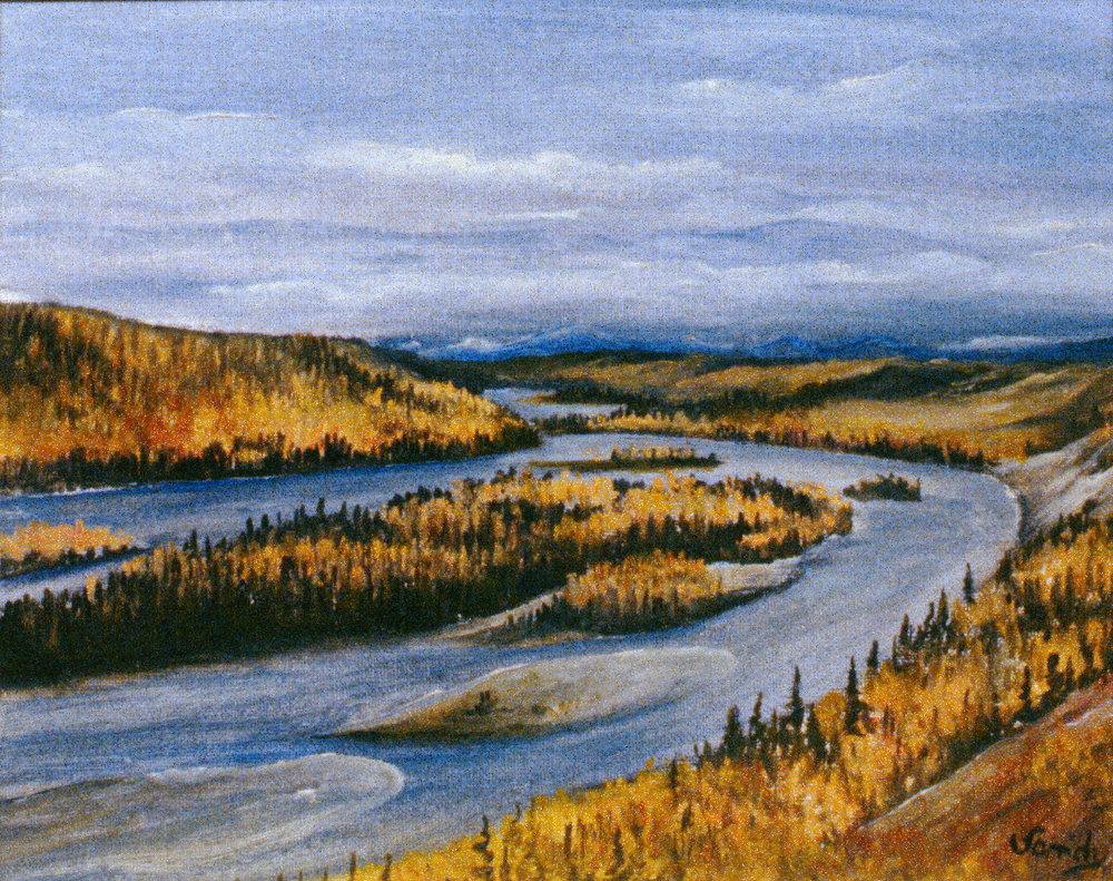 "Peace Island West,  May 1968, Frances Sandy, oil on canvas board, 8""x10"", 1986.10.01"