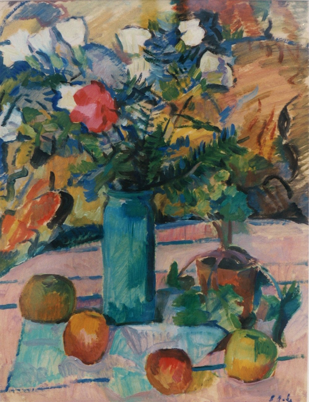 Still Life , Barbara (Zouzouline) Rodé, oil on canvas, 1983.03.01