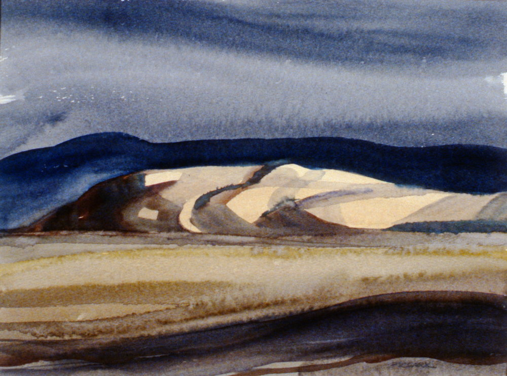 Ranchland (Sketch #2), n.d., Phil Clark, watercolour on paper, 29.2 cm x 21.6 cm, 1988.01.01. Gift of Eileen Railton.