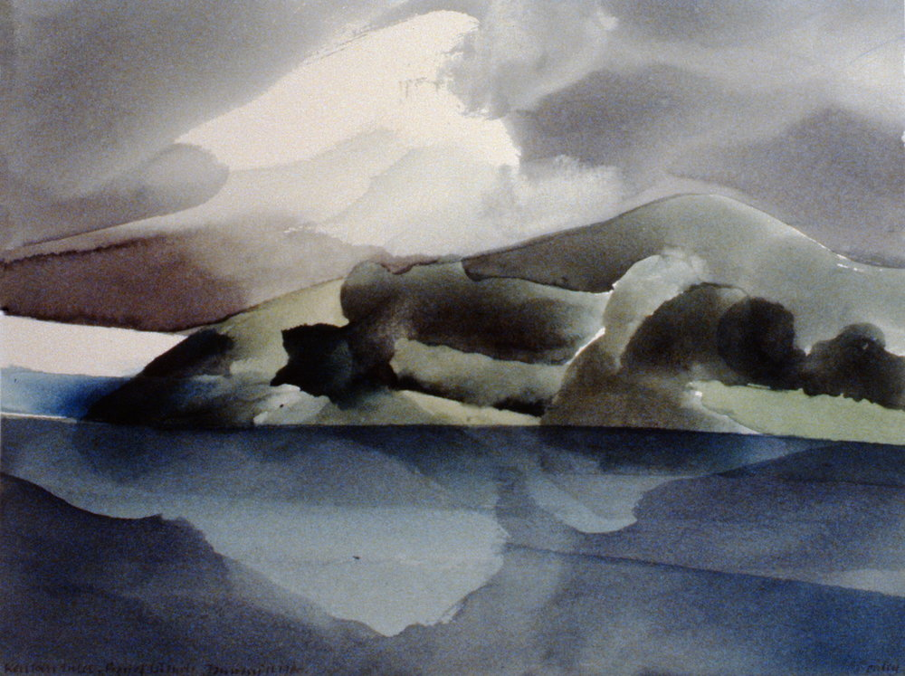 KeriKeri Inlet, New Zealand,  Toni Onley, watercolour on paper, 29.4 x 38.5 cm, 1983.04.01. Gift of Dr. Illington Kerr.