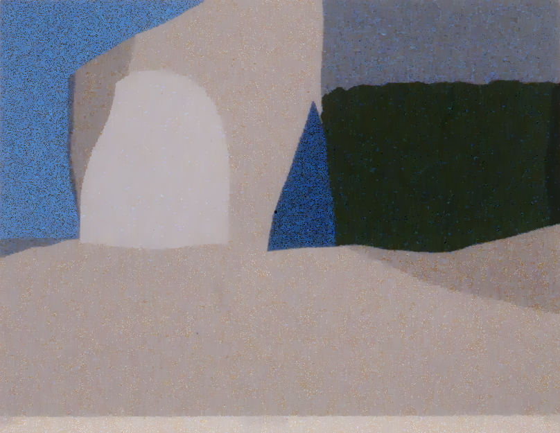 "Landscape , 1967, Toni Onley, serigraph,  15"" x 20"", 1985.03.11. Gift of Jessie Binning."