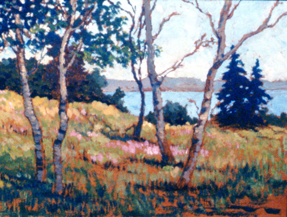 Sketch near Escuminac, Baie de Chalem,1934, David McGill, oil on board, 1993.03.01