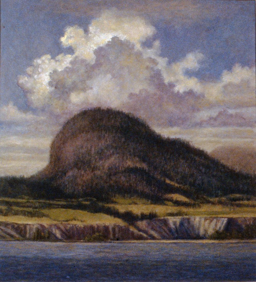 Giant's Head, Summerland, 1991, Gerald Roach, oil on board, 1994.01.01