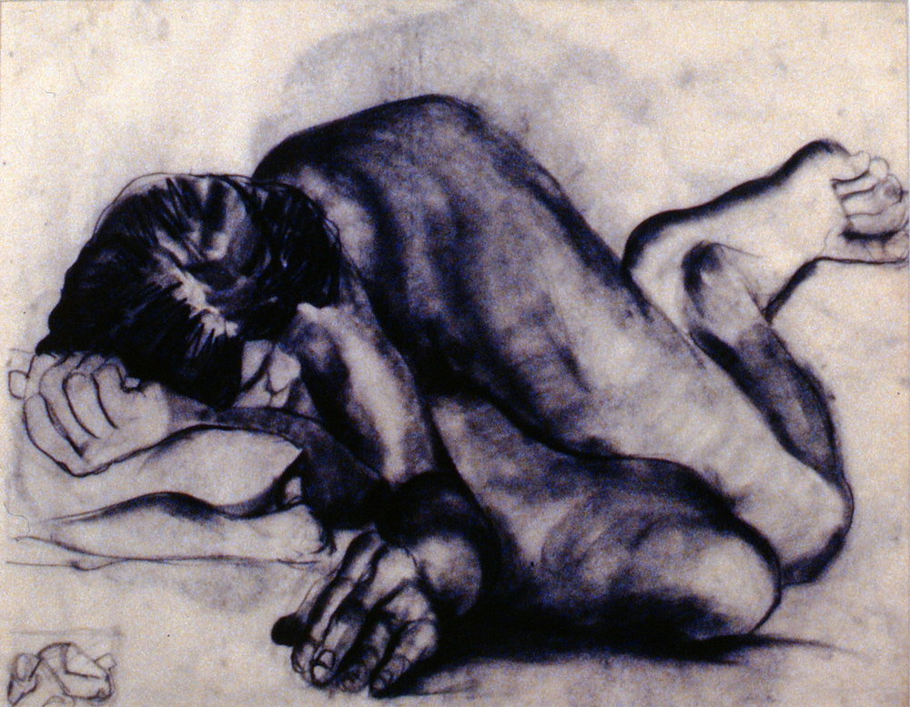 Untitled (Drawing from Life Class), 1984, Percival M. Ritchie, charcoal on paper, 1994.04.01