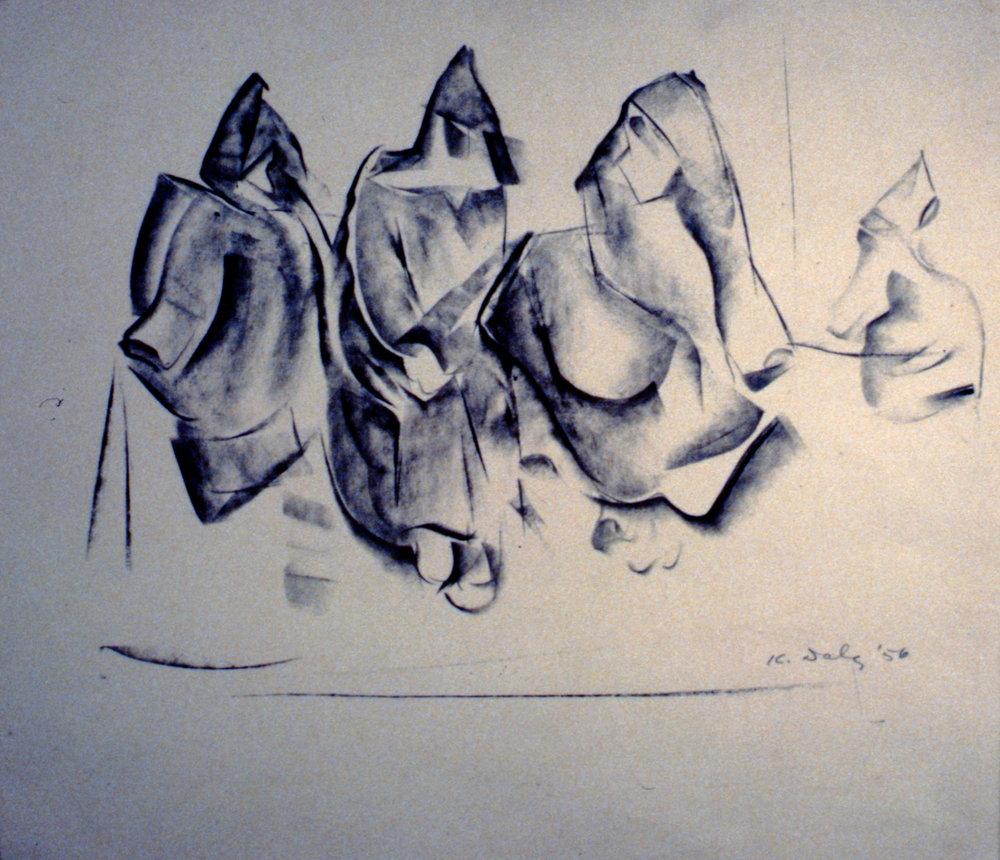 Untitled (Veiled Figures), 1956