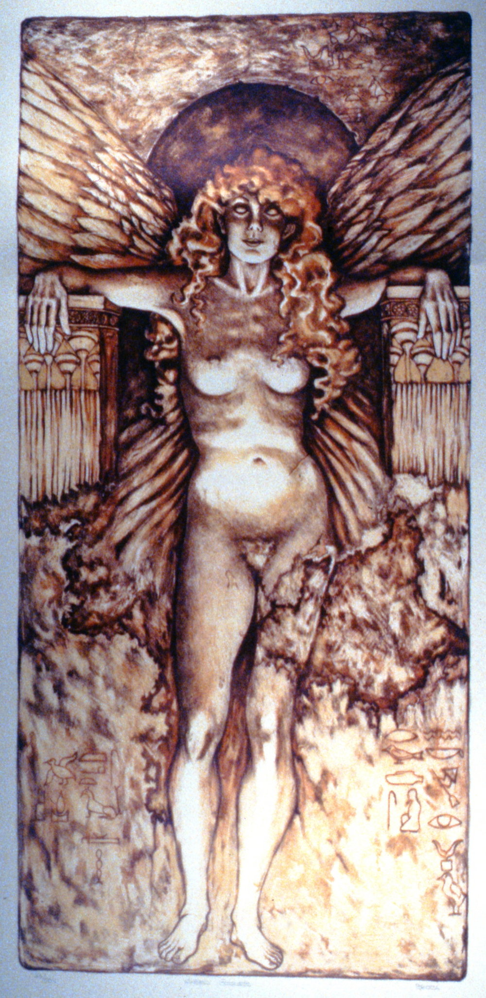 Guardian Angel , Lilian Broca, Lithograph, n.d. 41 x 86 cm, 1997.02.01