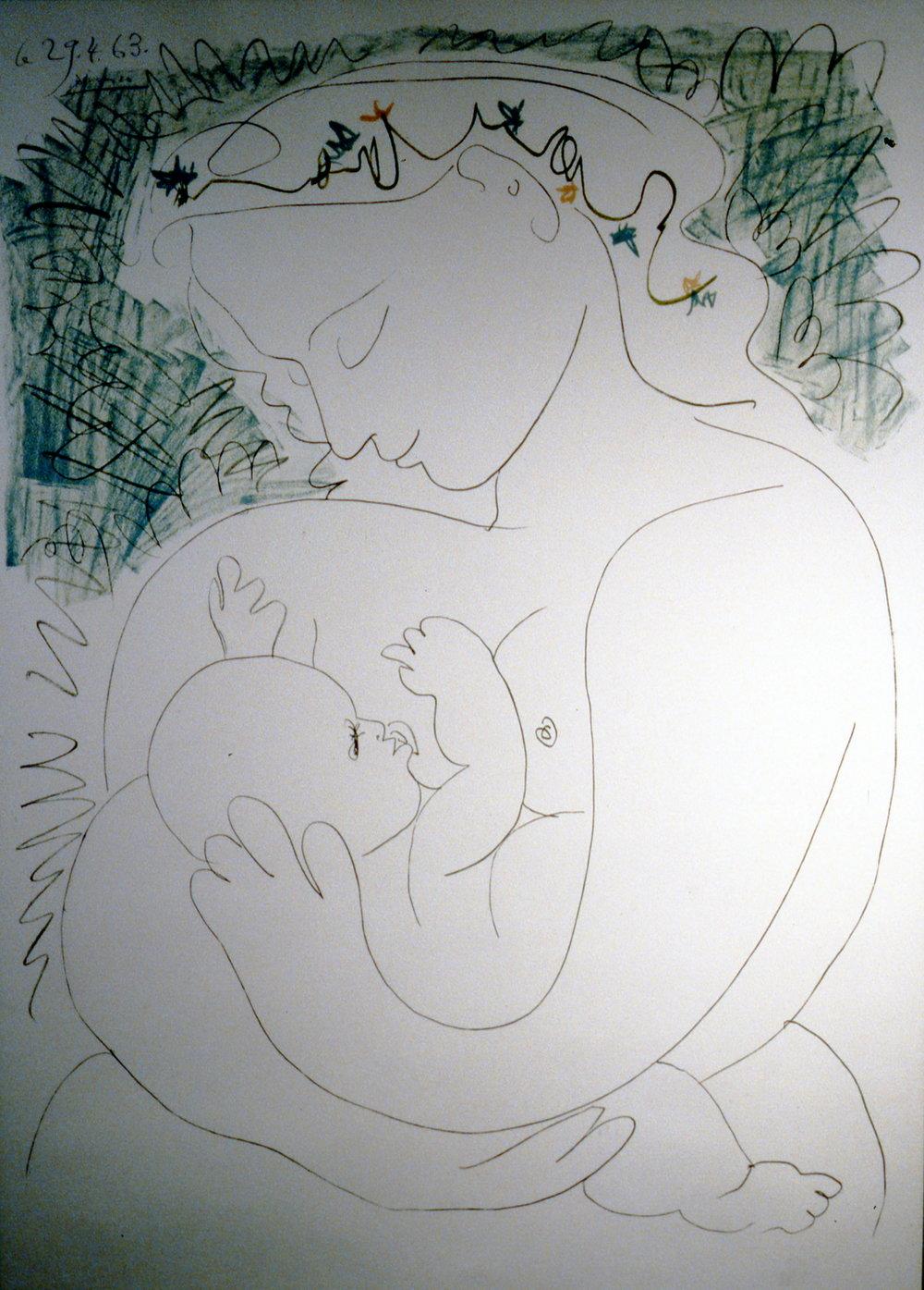 Grande Maternite, 1963, Pablo Picasso. lithograph, 1995.07.01