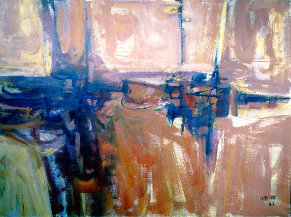 Abstract #5, 1962, Donald Harvey, oil on canvas, 1962, 101 x 137 cm, 1996.06.01