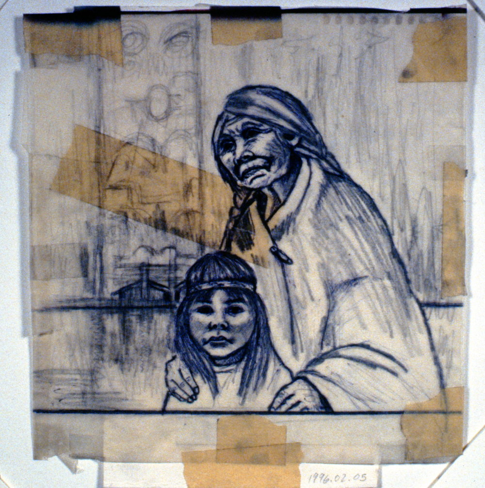 Ages Past (Grandmother) , n.d., Minn Sjølseth, sketch, 21 x 23cm, 1996.02.05