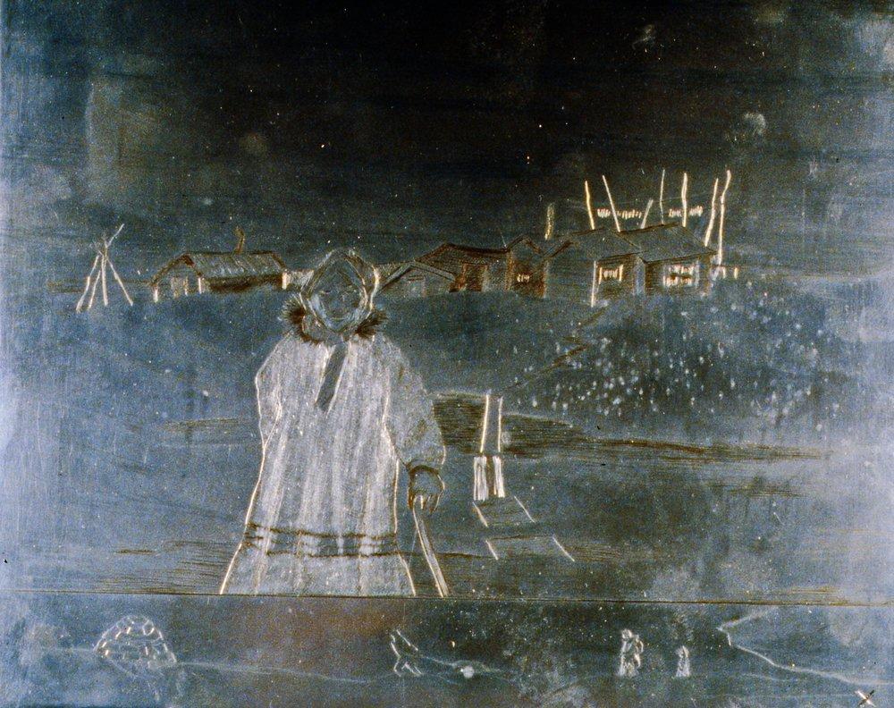Spring Walk, 1986, Minn Sjløseth, zinc plate, 21.5 x 25.5 cm, 1996.02.22